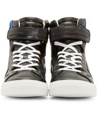 Pierre Hardy - Black Leather Les Baskets Sneakers for Men - Lyst