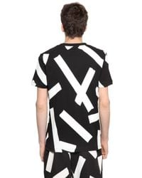McQ - Black Tape Printed Cotton T-shirt for Men - Lyst