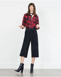Zara | Black Check Shirt | Lyst