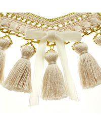 Margot & Me - Metallic Crochet Bracelet Mara In Nature - Lyst