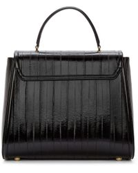 Dolce & Gabbana - Black Eel Skin Medium Top Handle Bag - Lyst