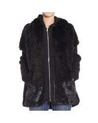 Pinko   Black Coat   Lyst