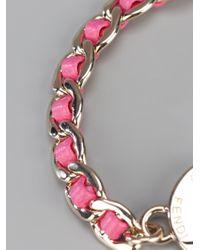 Fendi - Pink Lock and Key Bracelet - Lyst