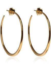 Dinny Hall - Metallic Medium Gold Vermeil Tapering Hoop Earrings - Lyst