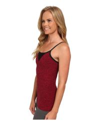 Beyond Yoga | Red Mesh Triangle Cami | Lyst