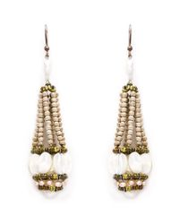 Ziio | Metallic Beaded Drop Earrings | Lyst