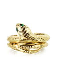 Roberto Cavalli - Multicolor Goldtone Snake Bracelet - Lyst