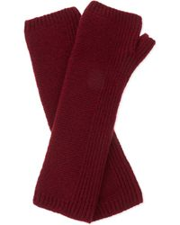 Johnstons | Purple Fingerless Long Cashmere Gloves, Women's, Maroon | Lyst
