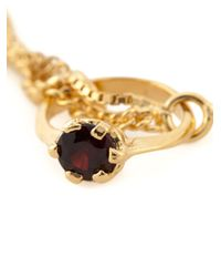 Puro Iosselliani | Metallic Garnet Ring Tangled Bracelet | Lyst