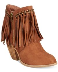 Naughty Monkey - Brown Not Rated Ayita Fringe Booties - Lyst
