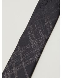 Title Of Work - Black Check Tie for Men - Lyst