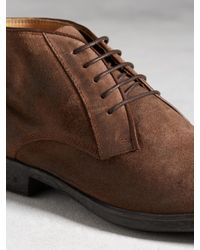 John Varvatos - Brown Dylan Calfskin Chukka Boots for Men - Lyst