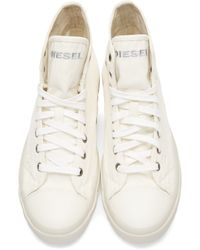 DIESEL - White Canvas Exposure High-top Sneakers for Men - Lyst