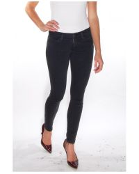 Current/Elliott - The Stiletto Jean In Faded Black - Lyst