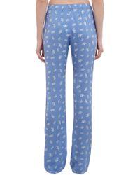 Piamita - Blue Crownprint Nan Pajama Pants - Lyst