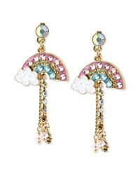 Betsey Johnson - Pink Earring - Lyst