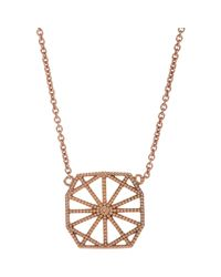 Grace Lee - Pink White Gold Petite Deco Ii Necklace - Lyst