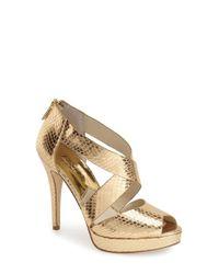 MICHAEL Michael Kors | Metallic Ariel Platform Sandals | Lyst