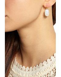 Chan Luu - Metallic Gold-Plated Moonstone Earrings - Lyst