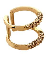 Chloé - Metallic Hope Chain Double Ring - Lyst
