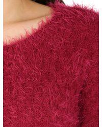 Izabel London Textured Angora Style Knit Top