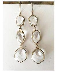 Blue Candy Jewelry - White Poprox Clear Quartz - Lyst