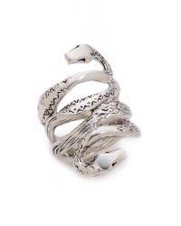 Aurelie Bidermann - Metallic Mamba Ring - Lyst