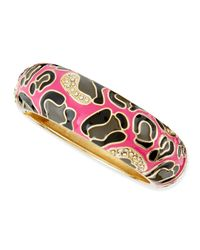 Sequin - Pink Thick Camo Enamel Bangle - Lyst