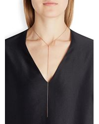 Maria Black | Pink Rose-gold Plated Sanae Necklace | Lyst