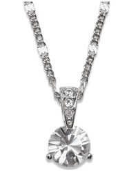 Swarovski - Metallic Solitaire Crystal Pendant - Lyst