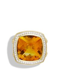 David Yurman - Metallic Albion Ring With Citrine & Diamonds In Gold - Lyst