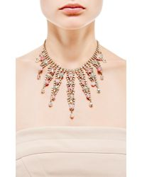 House of Lavande - Metallic Gold Cascading Necklace - Lyst