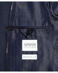 Armani   Blue Micro Check Suit for Men   Lyst