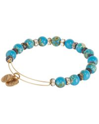 ALEX AND ANI - Blue Aqua Carousel Beaded Bangle - Lyst