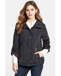 MICHAEL Michael Kors - Black Hooded Drawstring Jacket - Lyst
