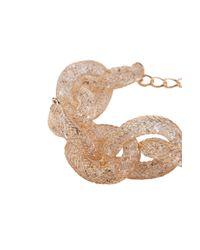 AKIRA - Metallic Net Captured Jewel Link Bracelet - Lyst
