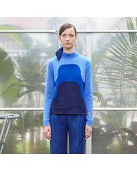 Trademark | Blue Collins Geometric Sweater | Lyst