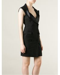 Jean Paul Gaultier - Black Tuxedo Style Dress - Lyst