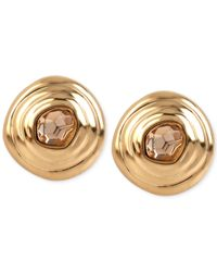 Robert Lee Morris | Metallic Bronze-tone Faceted Stone Spiral Stud Earrings | Lyst
