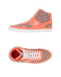 Le Coq Sportif - Pink High-tops & Trainers - Lyst