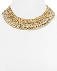 Cara - Metallic Shawk Cord Chain Collar Necklace 14 - Lyst