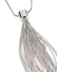 Ted Baker - Metallic Long Tassel Necklace - Lyst