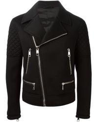 Neil Barrett | Black Neoprene Biker Jacket for Men | Lyst