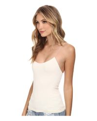 Free People - White Cross Strap Cami - Lyst