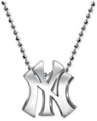 Alex Woo - Metallic Mlb Collection By Sterling Silver New York Yankees Pendant Necklace - Lyst