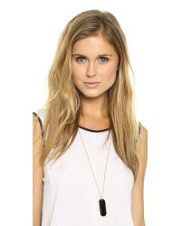 Marc By Marc Jacobs - Modern Logo Pendant Necklace Black - Lyst