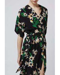 ef73acd5d4c Lyst - TOPSHOP Daisy Kimono Midi Dress By Boutique