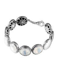 John Hardy - Metallic Batu Silver Moon Quartz Disc Bracelet - Lyst