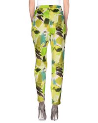Karl Lagerfeld - Green Casual Pants - Lyst