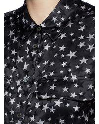 Equipment - Black 'slim Signature' Star Print Silk Shirt - Lyst